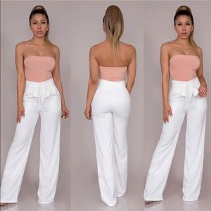 Pants - NEW Belted Wide Leg Pants-White